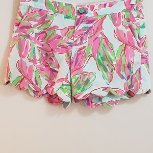 Lilly Pulitzer Buttercup Short, Pink/Green, Sz 4